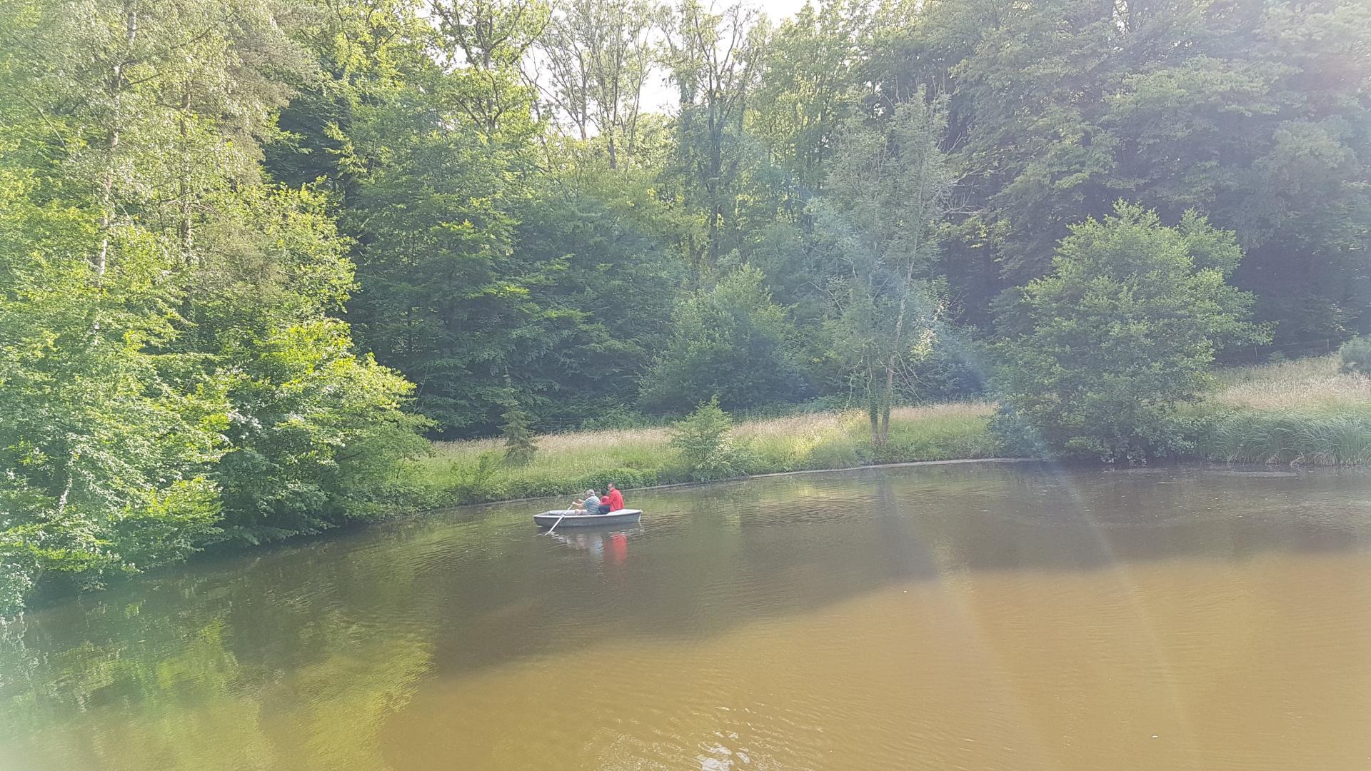 Barque sur l'étang du gîte